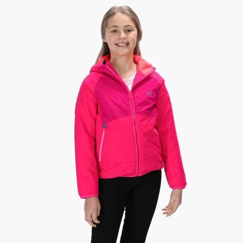 Kids' Volcanics III Waterproof Reflective Softshell Jacket Neon Duchess Pink
